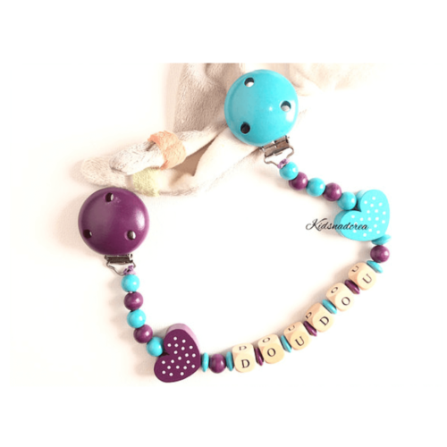 Attache-doudou-turquoise-et-violet-AD232-kidsandcrea