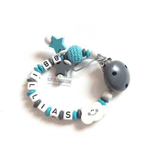 Attache-tetine-Personnalisee-garcon-crochet-bois-G17