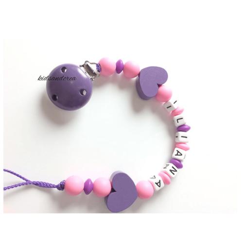 attache-tetine-silicone-violet