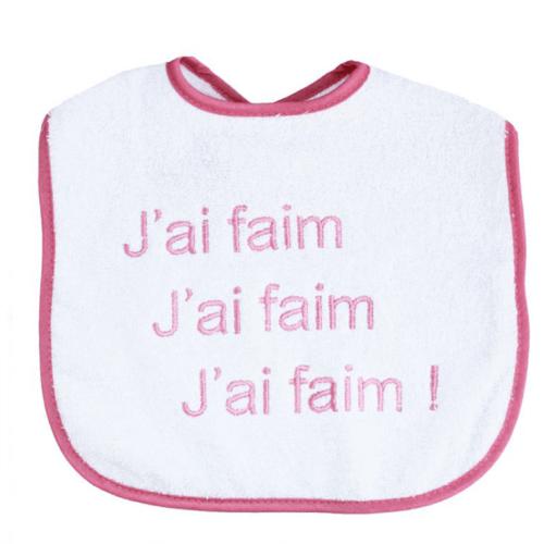 bavoir-bebe-j-ai-faim-rose