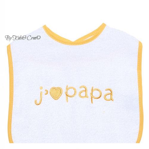 bavoir-bebe-j'aime papa jaune