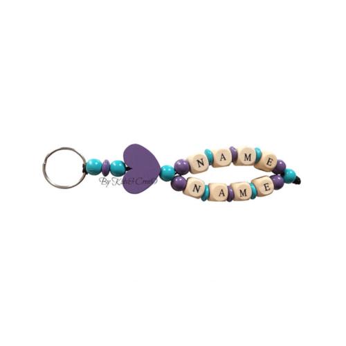 porte-cles-double-turquoise-violet