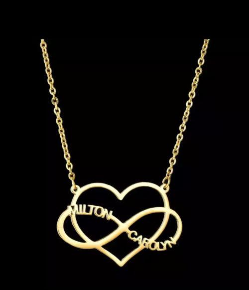 collier prénom, collier prénom femme,collier prenom coeur infini