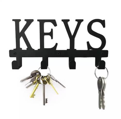 porte clés mural, accroche clefs mural,range clés mural