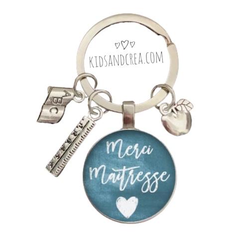porte clés personnalise maitresse