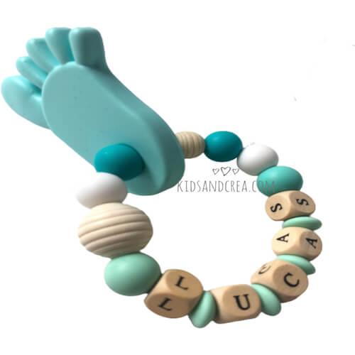 anneau dentition personnalisé pieds silicone