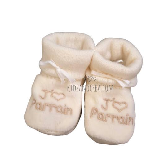 chausson bébé tricot parrain