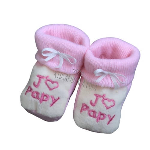 chausson bebe fille papy tricot