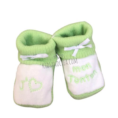 chausson bebe tricot tonton