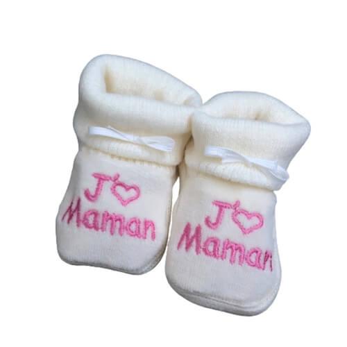 chausson bébé tricot maman